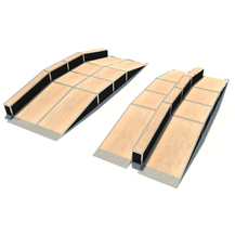 Inline Ramp with Driveway Ramp