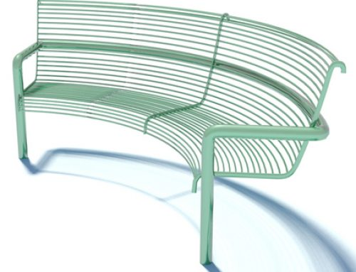 Curved Round Bar Seat