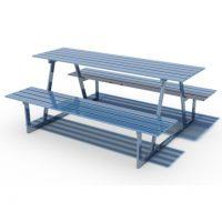 Flat bar picnic table