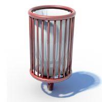 Lightmain steel litter bin