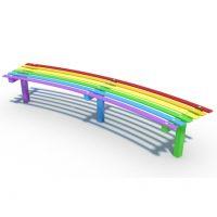 Steel rainbow bench