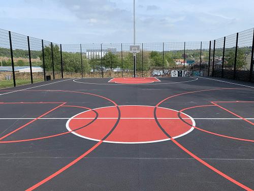 Basketball England POV of court