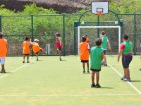 Physical Education Lesson in a MUGA