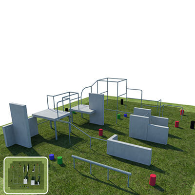 Free Running and Parkour Training Pitch