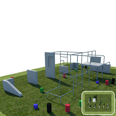 Military Parkour Obstacle Course