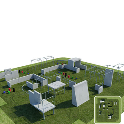 Parkour Military Style Obstacle Course Equipment