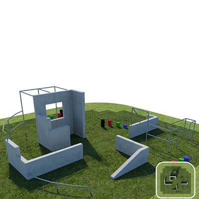 Military Style Parkour and Free Running Obstacle Pitch