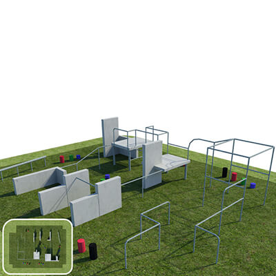 Military Style Parkour and Free Running Obstacle Course